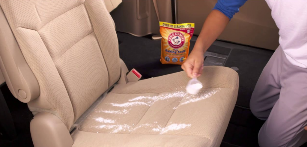 Cleaning Car Seats with Baking Soda