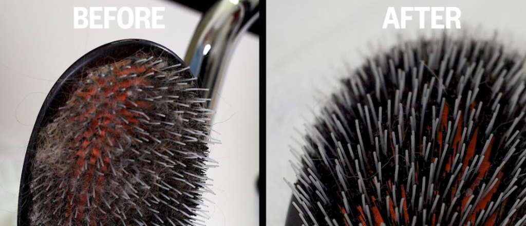 How to clean hair brushes lint